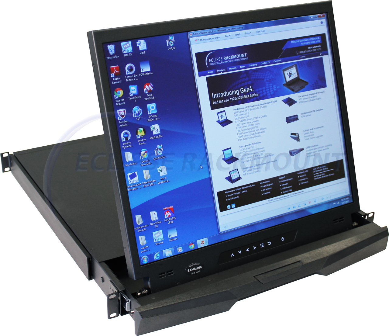 Md 19 1u 19 Quot Rackmount Lcd Monitor Drawer Eclipse